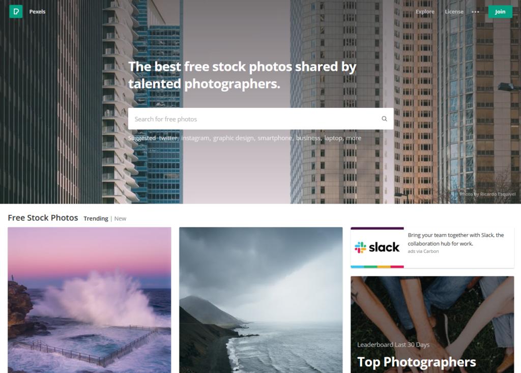 Pexels.com - strona główna darmowej bazy zdjęć i wideo