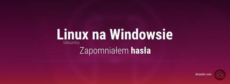 Zmiana hasła użytkownika w Ubuntu na Windowsie (WSL)